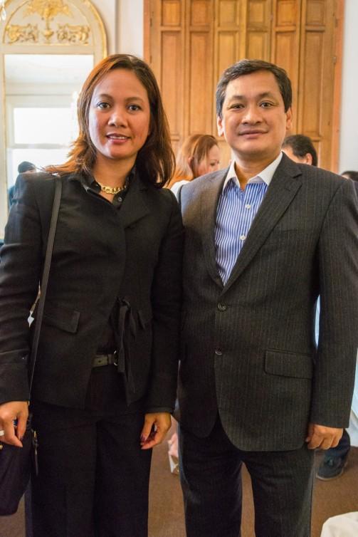 Hague with Ambassador Victor Ledda