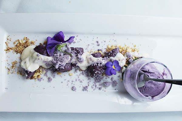 Ube-Trio-Purple-yam-Ube-Gnocchi-Ube-Ice-cream-Ube-Polvoron-Crumble-with-Vanilla-Cream-cheese-glaze-and-skyflake-crumble-Allan-Pineda-horizontal