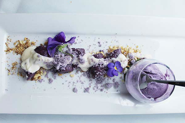 Ube-Trio-Purple-yam-Ube-Gnocchi-Ube-Ice-cream-Ube-Polvoron-Crumble-with-Vanilla-Cream-cheese-glaze-and-skyflake-crumble-Allan-Pineda-horizontal